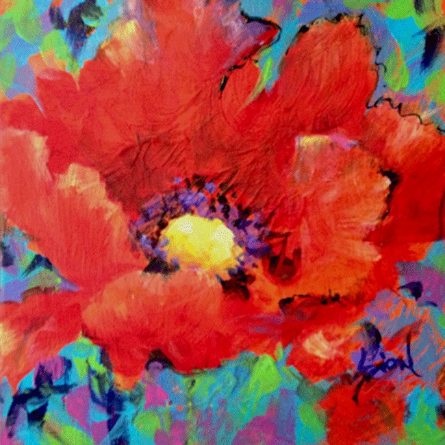 """Poppy of the Day"" original fine art by Sue Dion"