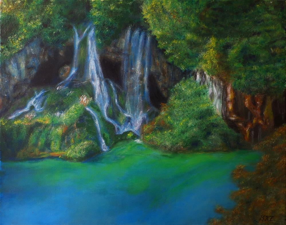 """Waterfalls"" original fine art by Maria Z."
