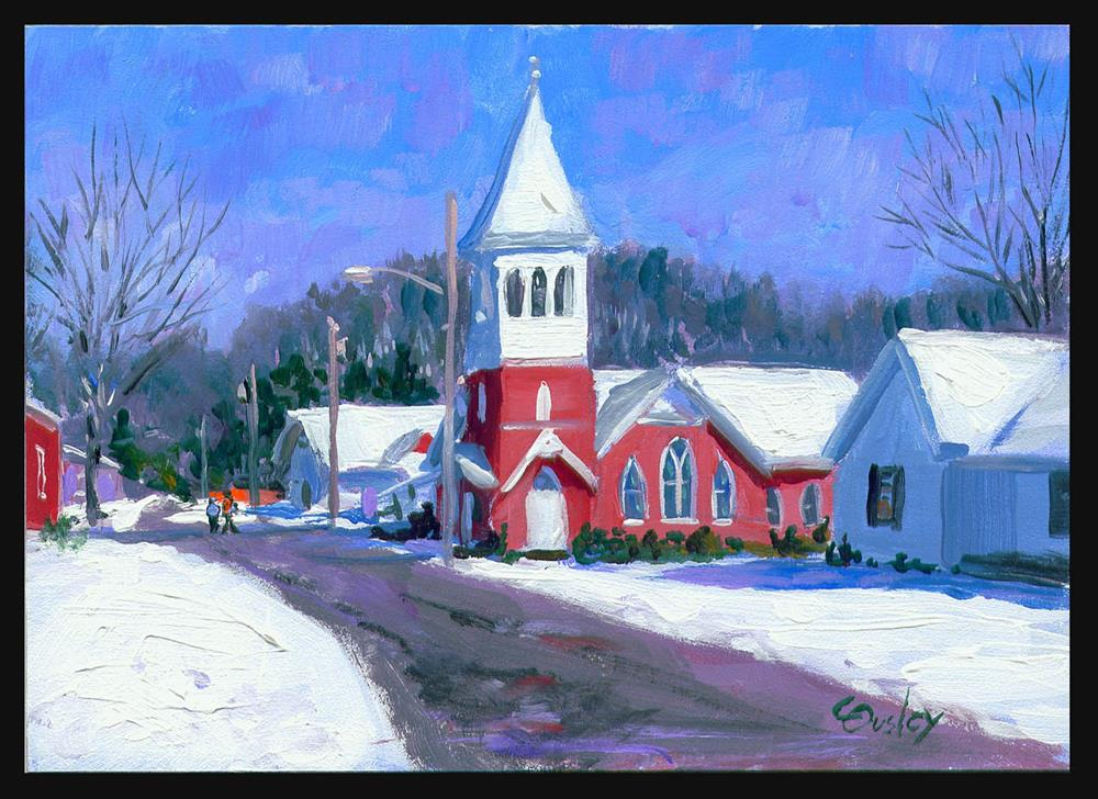 """Snnw Day in Normandy TN"" original fine art by Chris Ousley"