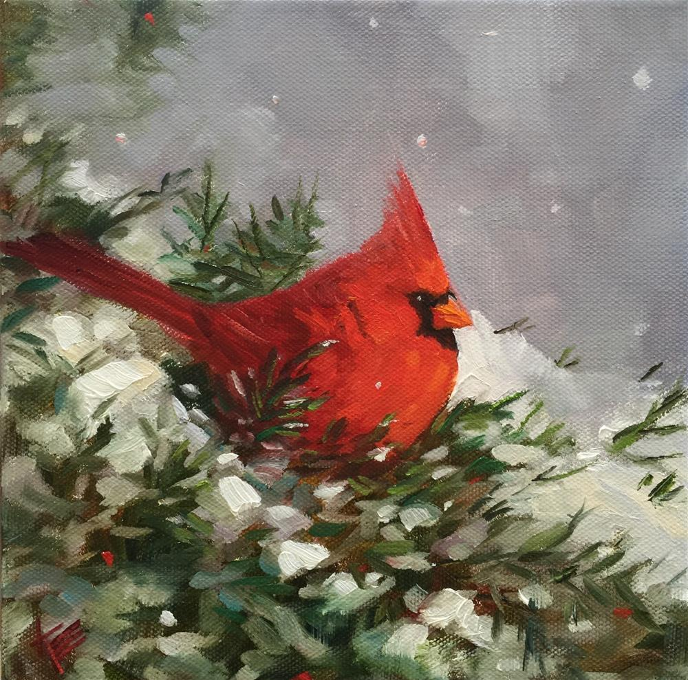 """In a winter wonderland"" original fine art by Krista Eaton"