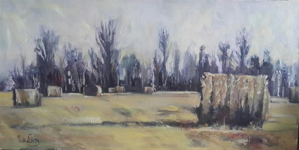 """Making hay - Clarence South Africa"" original fine art by Rentia Coetzee"