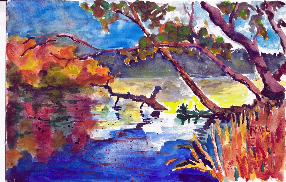 """Dryden Lake"" original fine art by  David Beale"