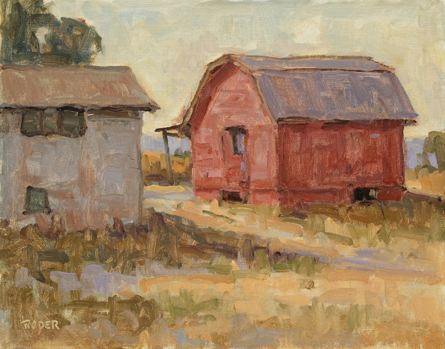 """DAY 23:  Dusk On Monticello Road"" original fine art by Stuart Roper"