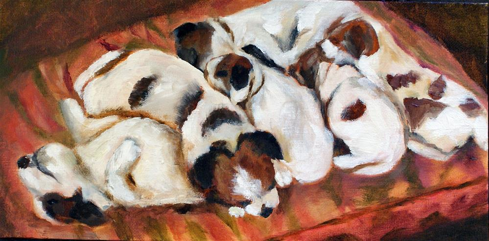 """Puppy Pile"" original fine art by Beverly Koldon"