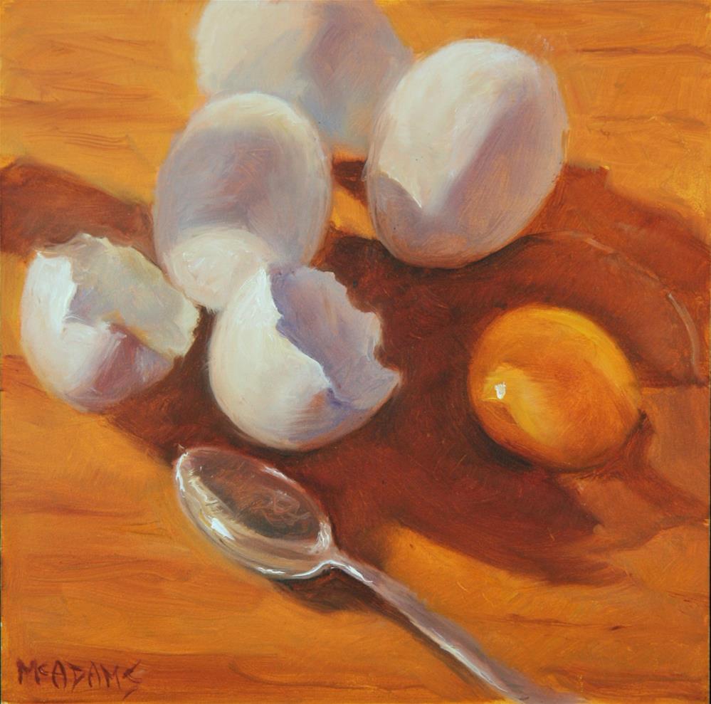 """""""Break an Egg"""" original fine art by Phyllis McAdams"""