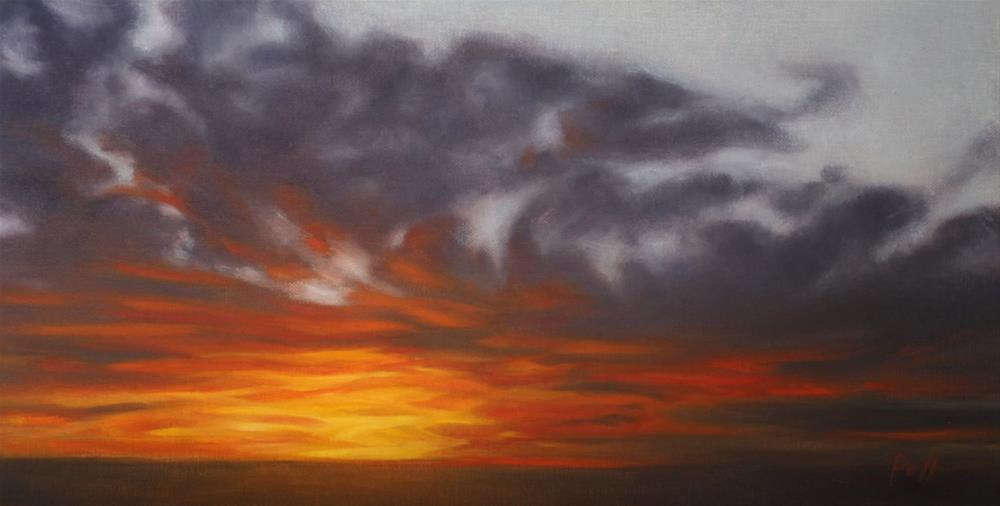 """Prairie Sunrise (framed)"" original fine art by Pamela Poll"