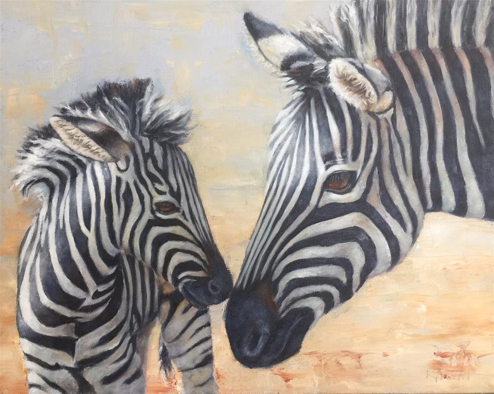 """""""Zebras"""" original fine art by Rhea  Groepper Pettit"""