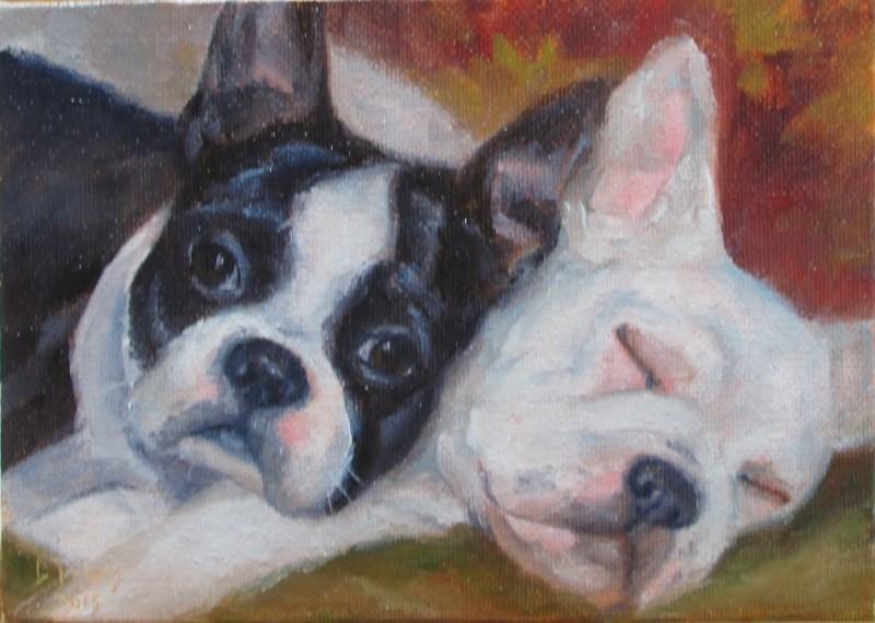 """Sophie & Pearl"" original fine art by Christine Lewis"