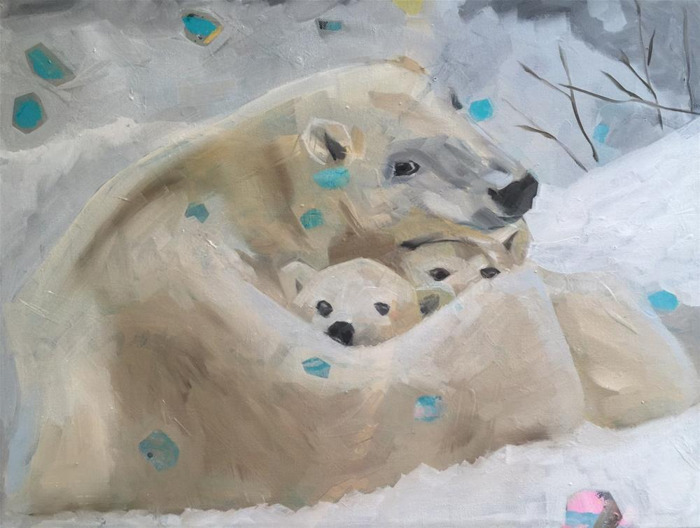 """329 Mother Bear"" original fine art by Jenny Doh"