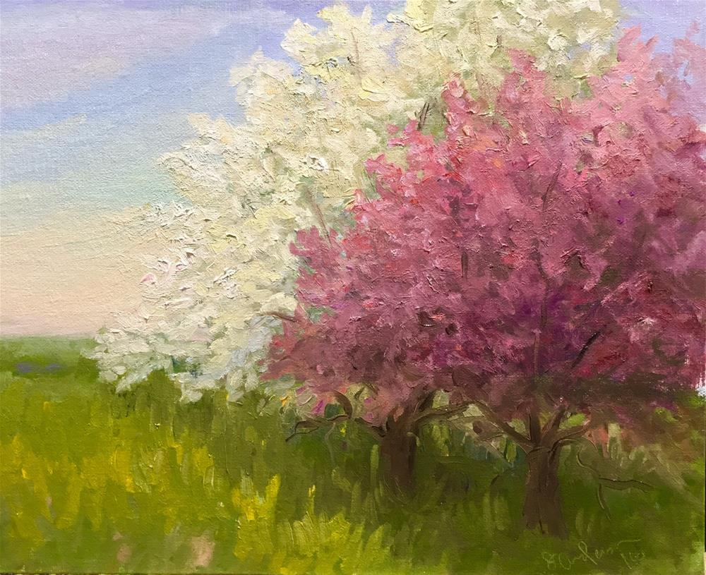 """Crabapples"" original fine art by Judith Anderson"