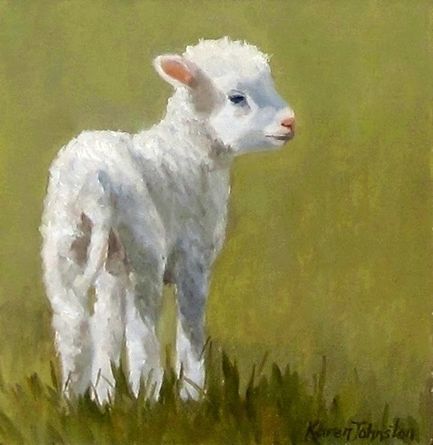 """Mary's Lamb"" original fine art by Karen Johnston"