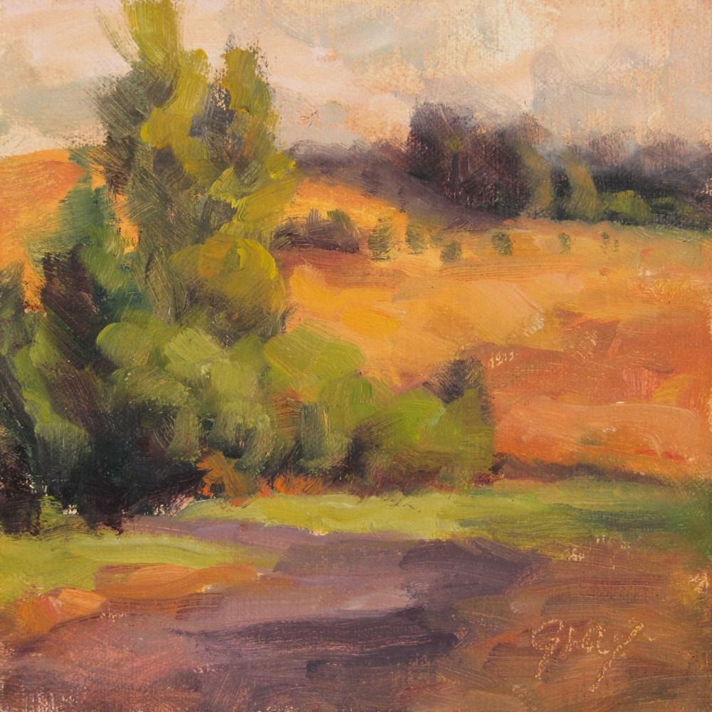 """Orchard Hilltop"" original fine art by Naomi Gray"