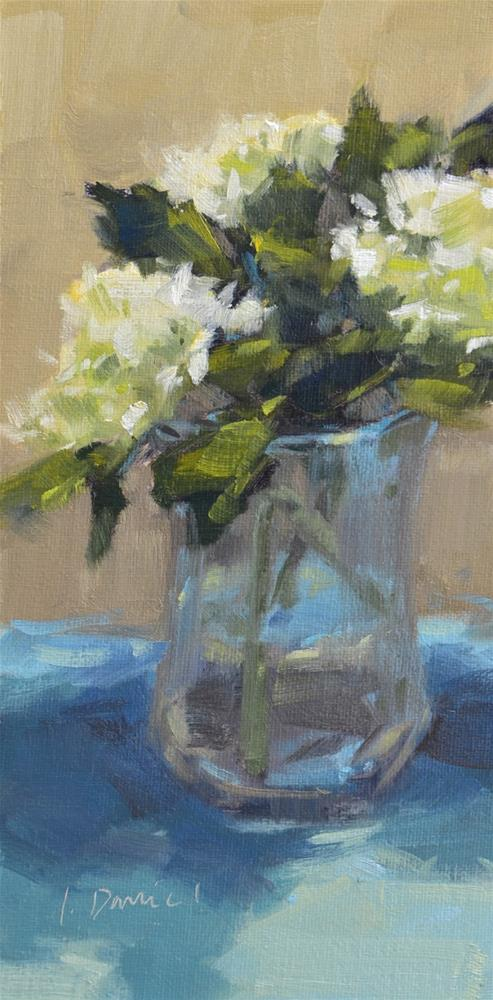 """Hydrangea Bouquet - Sixteen of 30 in 30"" original fine art by Laurel Daniel"