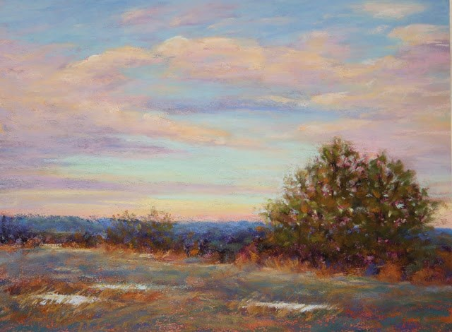 """""""Close of a Winter's Day"""" original fine art by Sharon Lewis"""