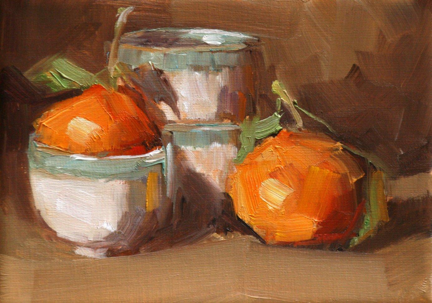 """clementine pair"" original fine art by Carol Carmichael"