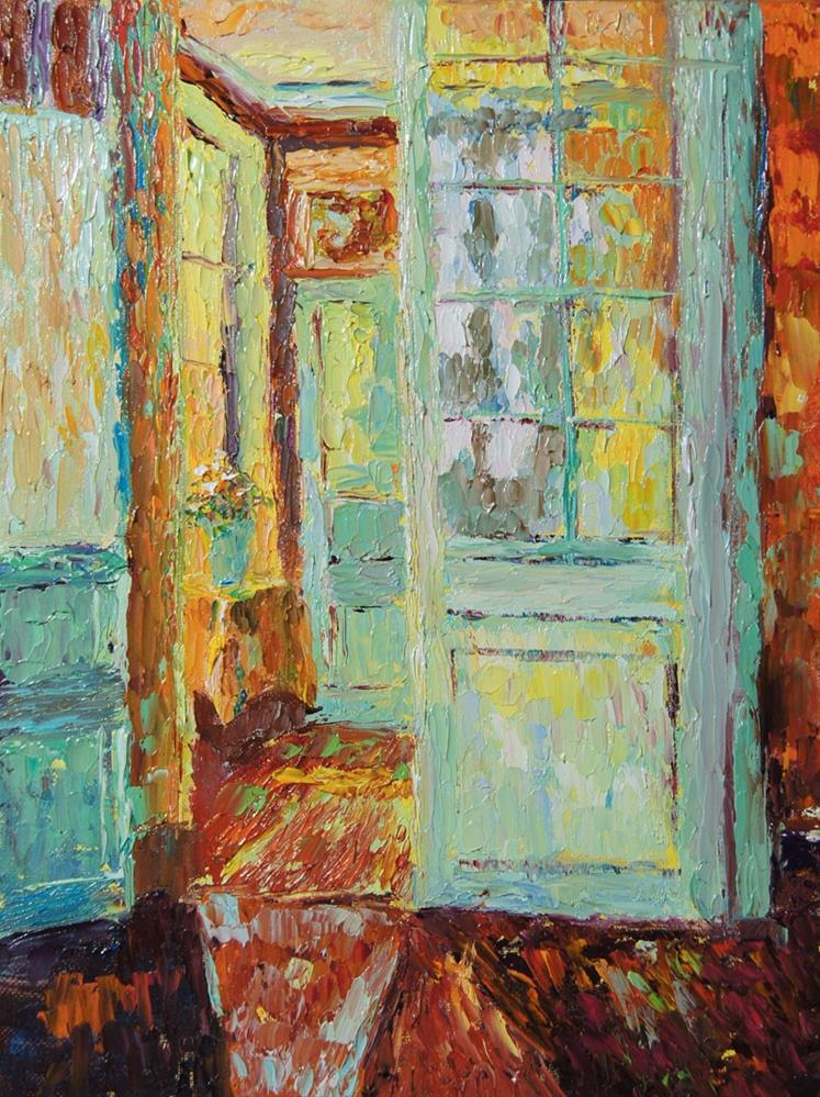 """Light from the window after Henri Le Sidaner"" original fine art by Marion Hedger"