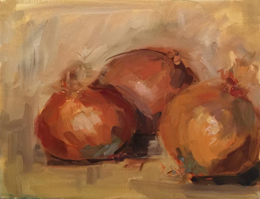 """Onions"" original fine art by Barb Walker"