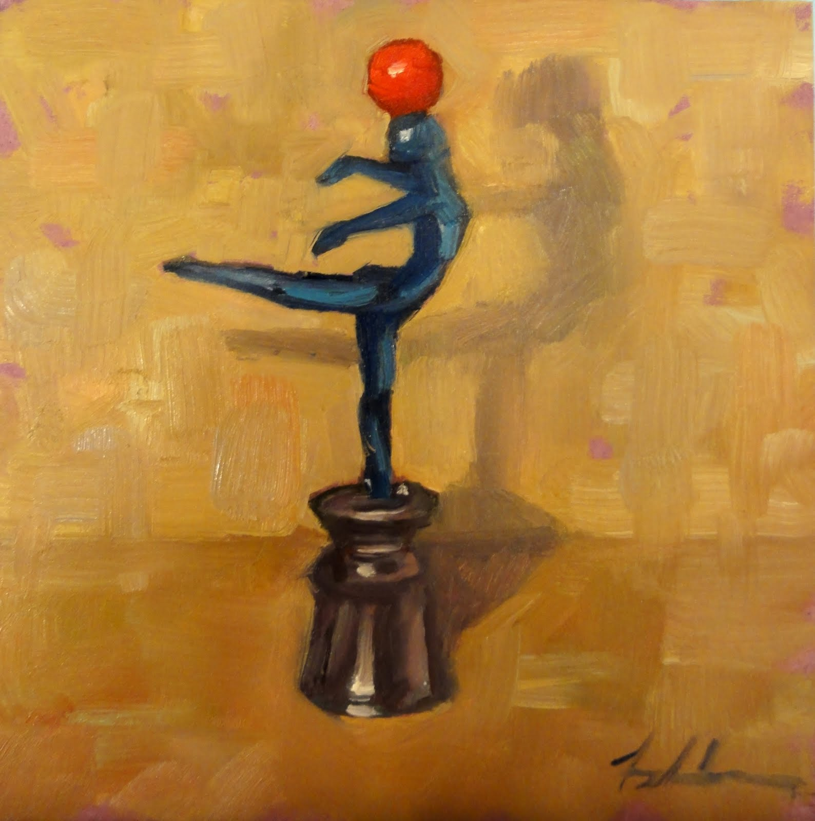 """The Balancing Act"" original fine art by Ann Feldman"