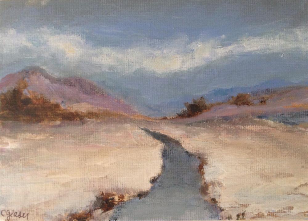 """Snow in the highlands"" original fine art by christina glaser"