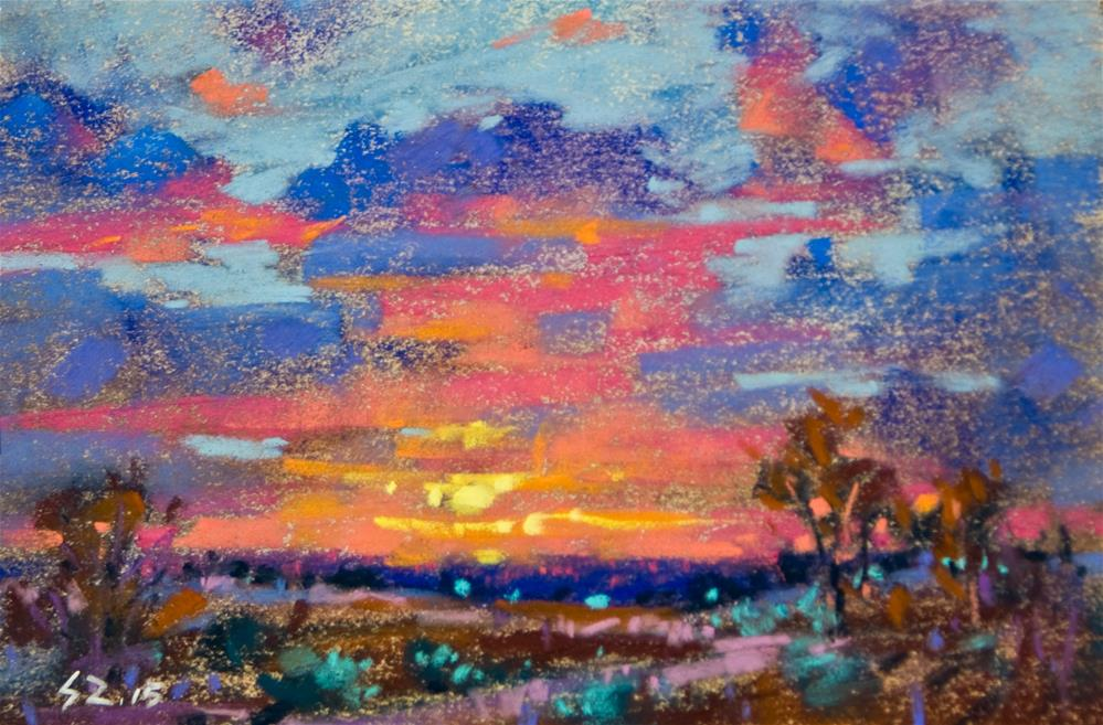 """Evening Glow"" original fine art by Sabrina Zhou"