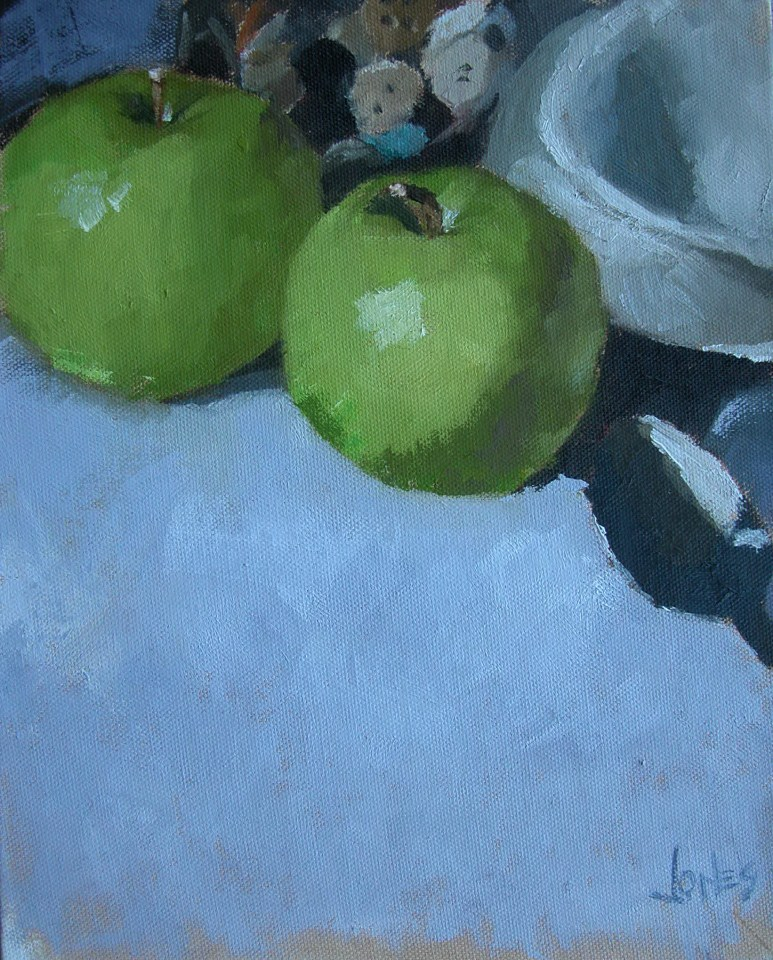 """Green Apples"" original fine art by Richard Jones"