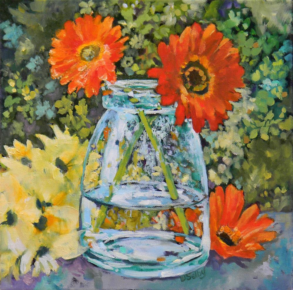"""Blue Glass"" original fine art by De Selby"