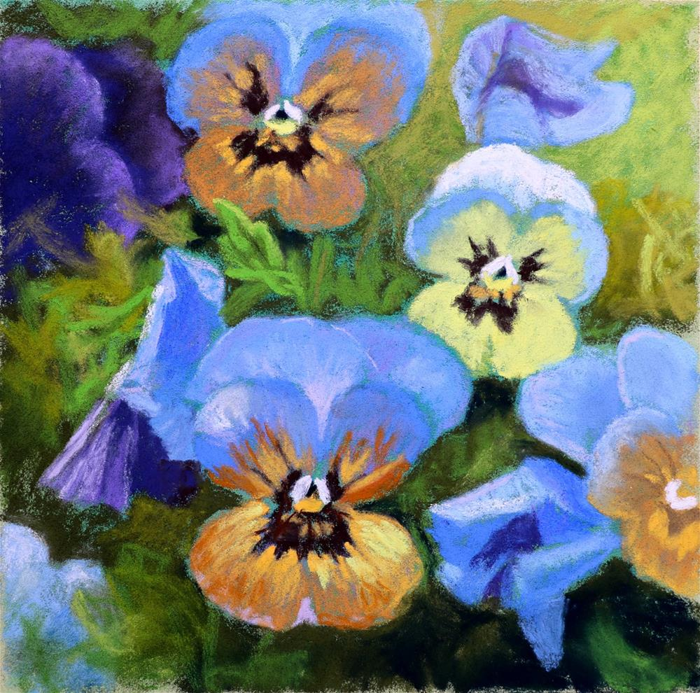 """Little Faces"" original fine art by Christine Derrick"