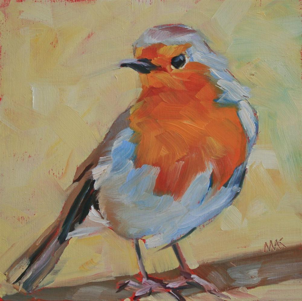 """Little Robin"" original fine art by Mary Anne Cary"