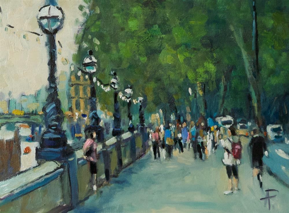 """Westminster Embankment"" original fine art by Andre Pallat"