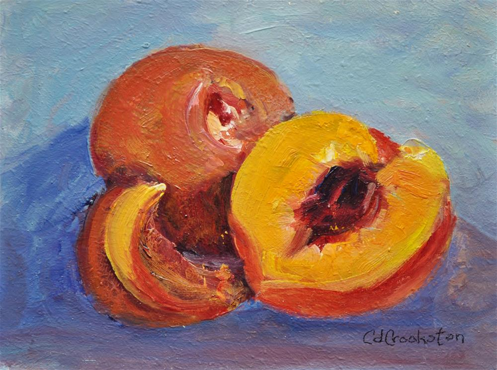"""Peachy Peaches"" original fine art by Catherine Crookston"