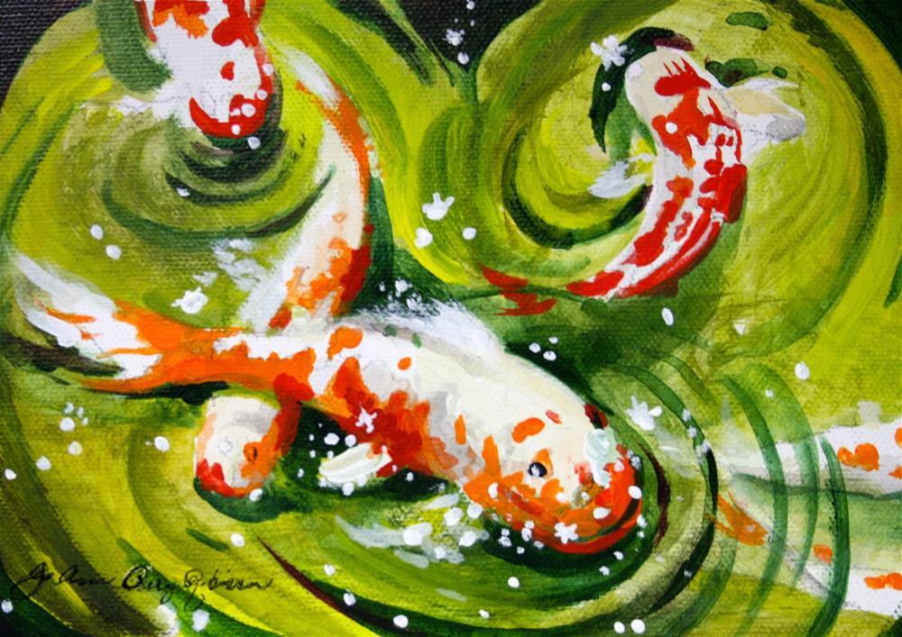 """Pond Dancers"" original fine art by JoAnne Perez Robinson"
