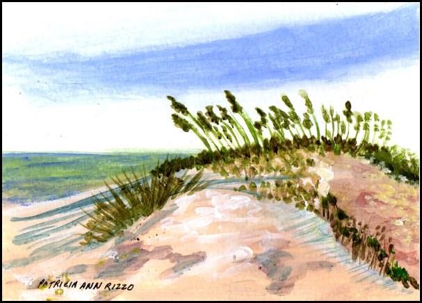 """Beach Days 2"" original fine art by Patricia Ann Rizzo"