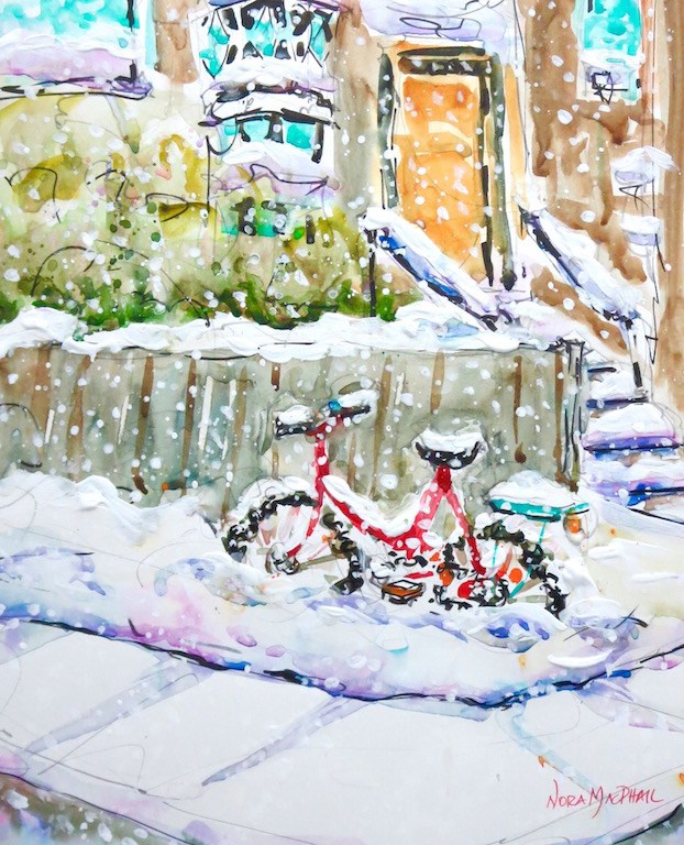 """""""ride out the storm"""" original fine art by Nora MacPhail"""