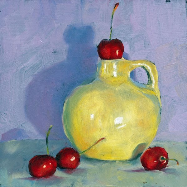 """Cherry Stopper"" original fine art by Brenda Ferguson"