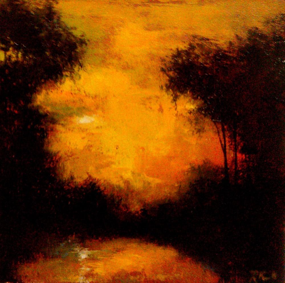 """Reflected Sun"" original fine art by Bob Kimball"