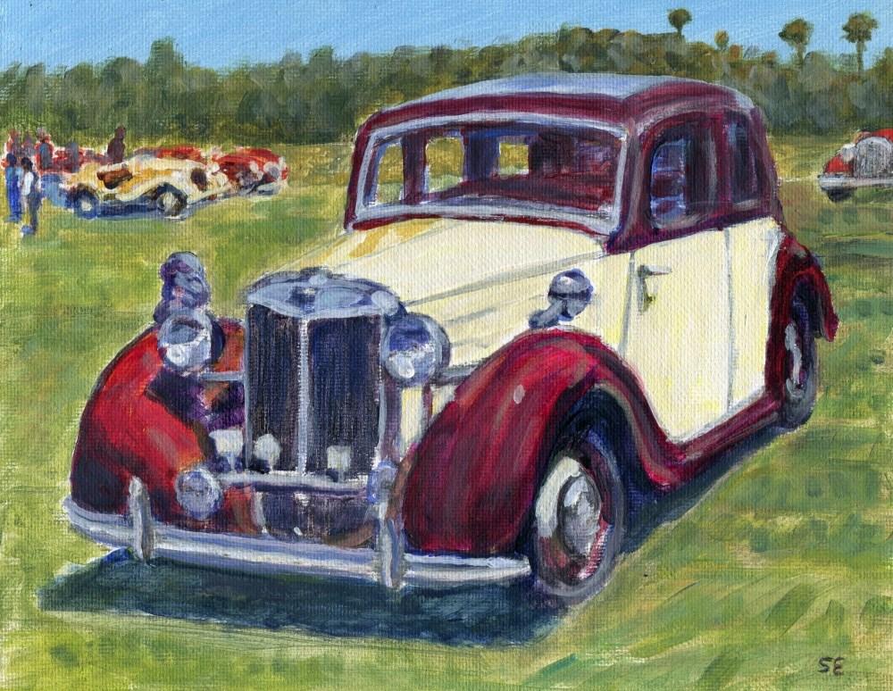 """British Classic Triumph Sedan"" original fine art by Stanley Epperson"
