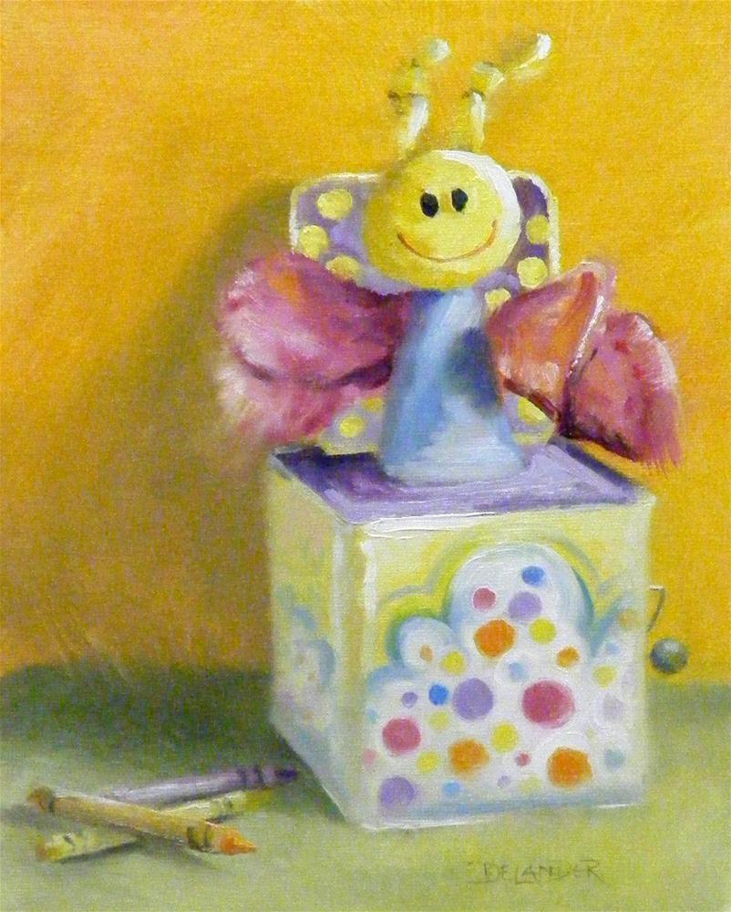 Polka Dot Pop Up original fine art by Diana Delander