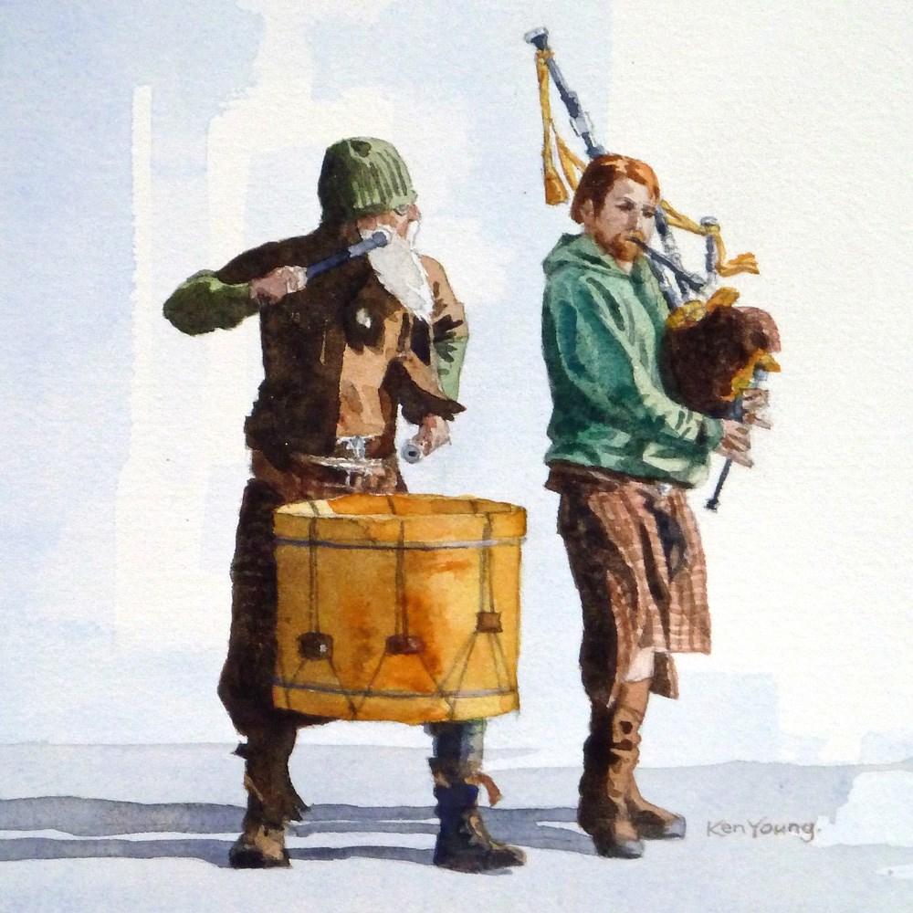 """""""Wild Music"""" original fine art by Ken Young"""