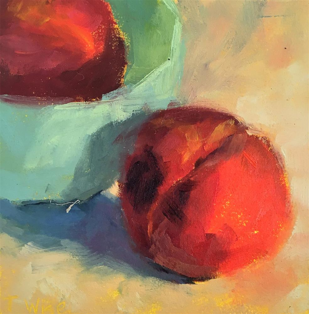 """Peach Bowl"" original fine art by Tracy Wise"