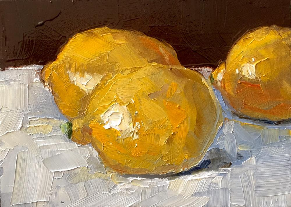 """Meyer Lemons"" original fine art by Gary Bruton"