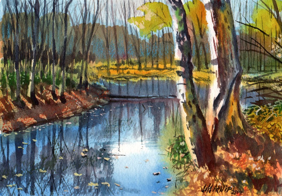 """Obion River Bend"" original fine art by Jeff Atnip"