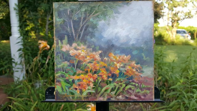 """Daylilies in the Garden"" original fine art by Tammie Dickerson"
