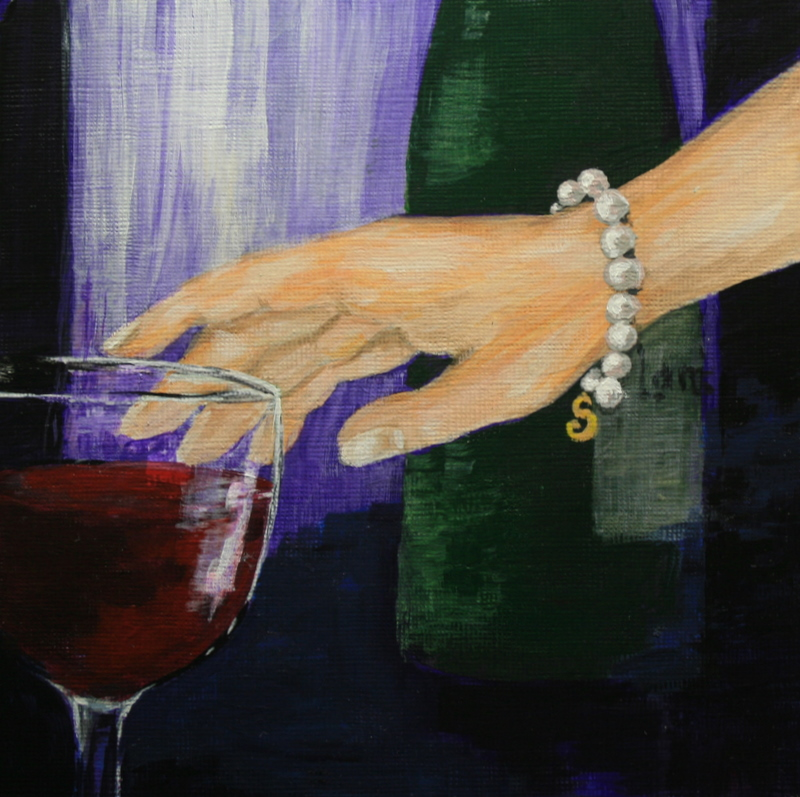 """I'll Drink to That"" original fine art by Jean Nelson"