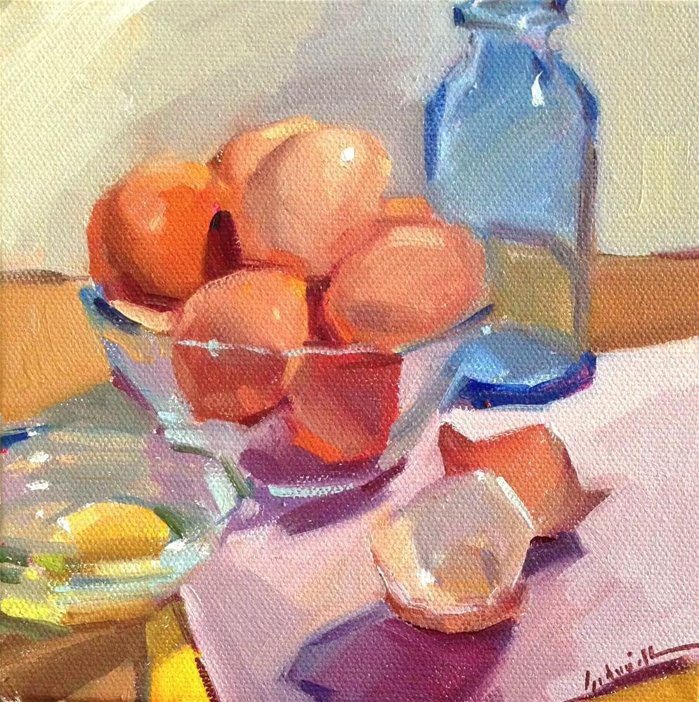 """Brown Egg Sketch"" original fine art by Sarah Sedwick"