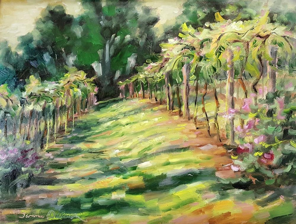 """Sunrise in the Vineyard"" original fine art by Tammie Dickerson"