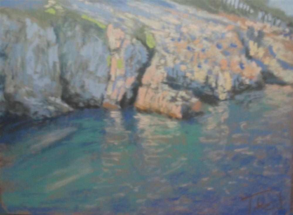 """Quarry Rocks"" original fine art by Toby Reid"
