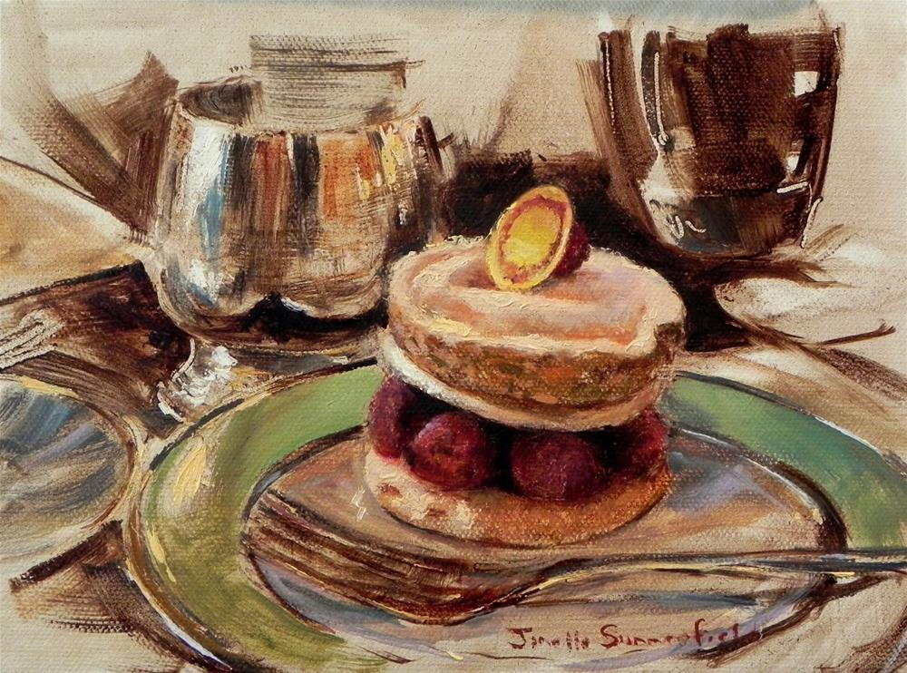 """Raspberry Dessert"" original fine art by Jonelle Summerfield"