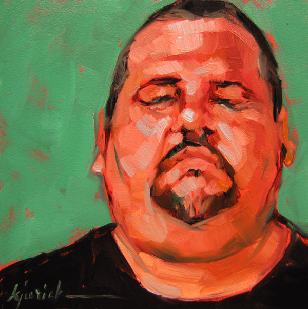 """100 Faces, No. 28"" original fine art by Karin Jurick"