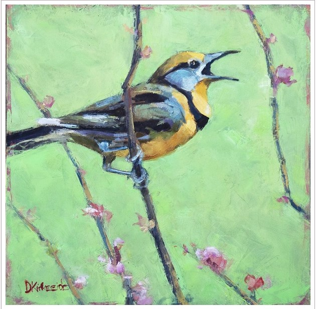 """Just Singin' a Happy Tune - Original Meadowlark Painting - Deb Kirkeeide"" original fine art by Deb Kirkeeide"