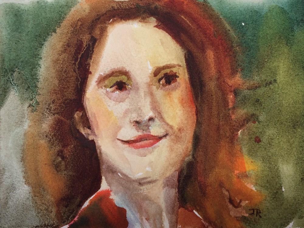 """Amused"" original fine art by June Rollins"